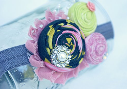 (Pink and Green Rosette Couture)