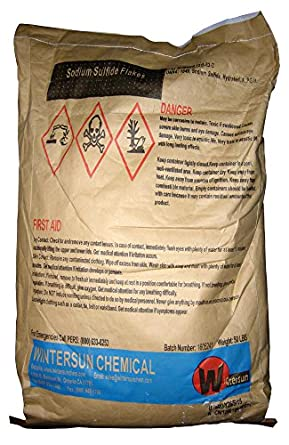 Sodium Sulfide [Na2S] [CAS_1313-82-2] Flakes (50 Lb Bag) by