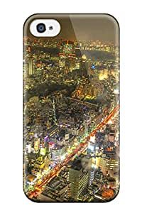 Faddish Tokyo City Case Cover For Iphone 4/4s 3320692K19579721