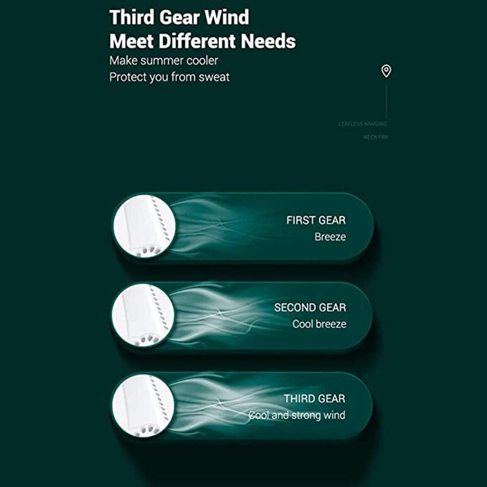 Mini ventilateur mains libres Ventilateur de cou suspendu Ventilateur de collier portable Ventilateur portable rechargeable USB fan du cou Conception de casque Mini /Écharpe de climatiseur