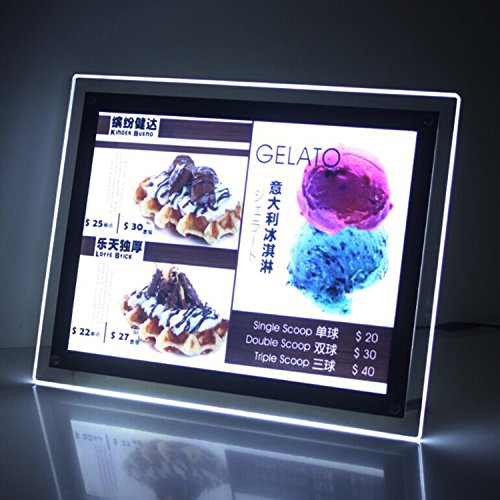 - A3 Single Sided Counter Crystal Led Light Boxes for Cafe,restaurant Displays