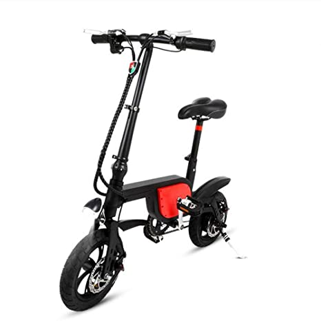 zdw Bicicleta eléctrica plegable de 250 vatios, batería de ...