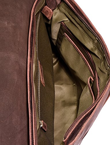 LEABAGS Oxford Umhängetasche aus echtem Büffel-Leder im Vintage Look - Merlot Rouge zepLZe