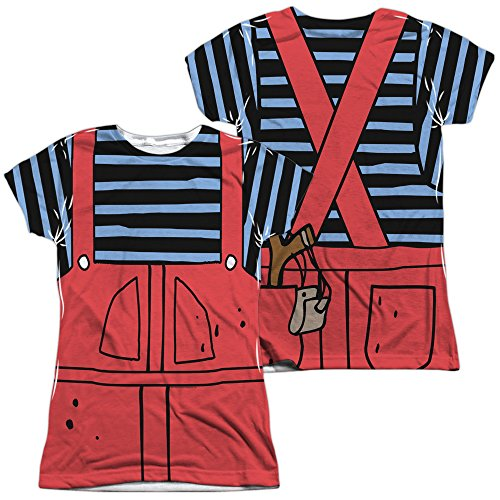 Dennis The Menace Dennis Costume Junior All Over Print 100% Poly T-Shirt ()