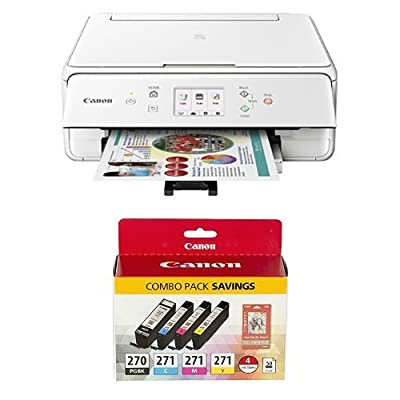 Canon Office Products PIXMA TS6020 BK Wireless color Photo Printer with Scanner & Copier, Black