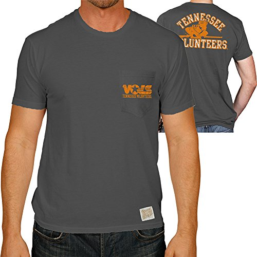(Elite Fan Shop Tennessee Volunteers Pocket Tshirt Charcoal - M)