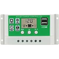 Regulador de carga solar de 10 A, 12 V, 24 V CC, panel solar