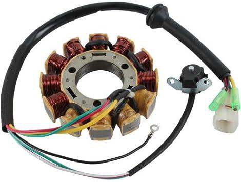 High Output Performance Generator Stator 100 Watts For Yamaha YFZ 350 Banshee 1995 1996 1997 1998 1999 2000 2001 2002 2003 2004 2005 2006 OEM Repl.# 3GG-85510-00-00 3GG-85510-01-00