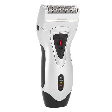 Afeitadora Eléctrica Recortadora para hombres Barba de afeitado en seco/húmedo con cuchillas dobles y