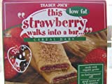 Trader Joe's Strawberry Low Fat Cereal Bars, 6 Count Box (1.3 oz/bar), (Pack of 6)