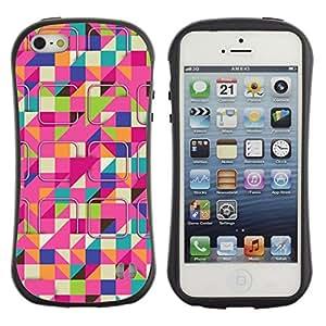 Suave TPU GEL Carcasa Funda Silicona Blando Estuche Caso de protección (para) Apple Iphone 5 / 5S / CECELL Phone case / / Ski Colorful Pink Pattern /