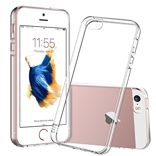 For iPhone 5s Case, Shamo's Clear Apple iPhone SE 5S 5 Case [Shock Absorption] Cover TPU Rubber Gel [Anti Scratch] Transparent Clear Back, Soft Silicone, Crystal clear