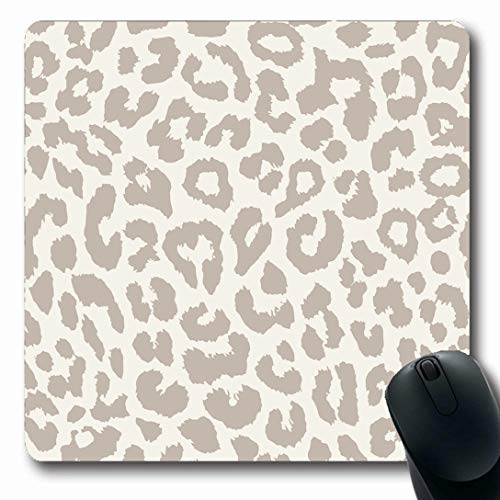 - Ahawoso Mousepads for Computers Albino Brown Pattern Leopard Wildlife Cheetah Abstract Wild Fur Zoo Safari Design Nature Oblong Shape 7.9 x 9.5 Inches Non-Slip Oblong Gaming Mouse Pad