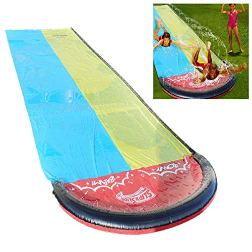 Double-Racing-Lane-Slip-and-Slides-for-Kids-48M-Giant-Splash-Sprint-Inflatable-Water-Slide-Long-Large-Thick-Surfing-Waterslide-Watersports-Built-in-Sprinkler-for-Outdoors-Backyard-Water-Slide