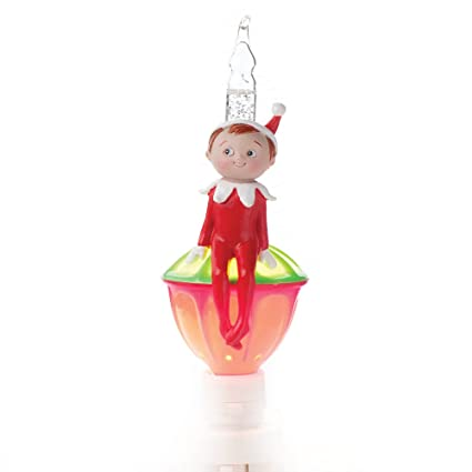 elf on the shelf plug in bubble night light with swivel base