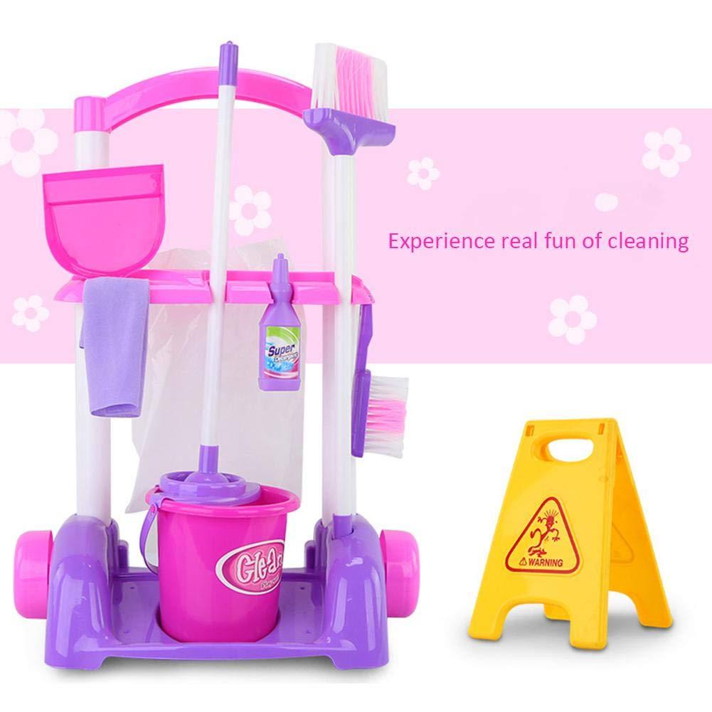Anivia enfants Ensemble de nettoyage pour les tout-petits jusquau minimum 3/Comprend 8/Nettoyage Jouets Housekeeping Accessoires de nettoyage Pretend Play Jouets