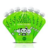 BPA Free Reusable Refillable Baby Food Pouch - 8 Pack - By Mini Matters