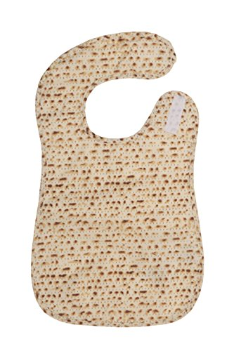 """Price comparison product image FIT RITE Matzah Designed Kids Passover Baby Bib Apron ~ Traditional Jewish Holiday Seder Gift (Small 11.5""""x 19"""")"""