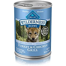 BLUE Wilderness Puppy Grain-Free Turkey & Chicken Grill Wet Dog Food 12.5-oz (pack of 12)