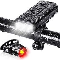 (5200mAh大容量 USB充電式) 自転車 ライト 防水 LED 800ルーメン ...