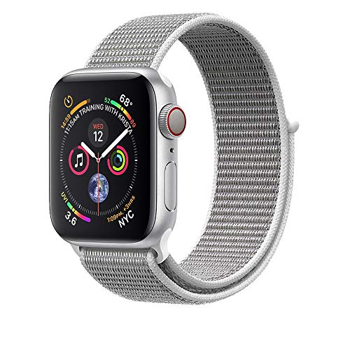 AdMaster Compatible for Apple Watch Band 42mm 44mm, Soft Nylon Sport Loop Replacement Wristband Compatible iWatch Apple Watch Series 4/3/2/1 Seashell