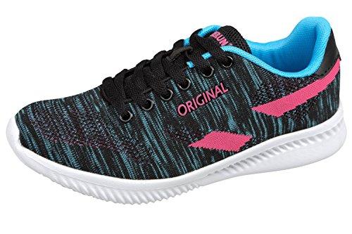 Blau schwarz Gibra Pour Femme Baskets pink tqtYwPp