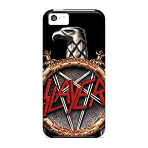 Shock Absorbent Cell-phone Hard Covers For Iphone 5c With Unique Design Fashion Metallica Image LauraAdamicska