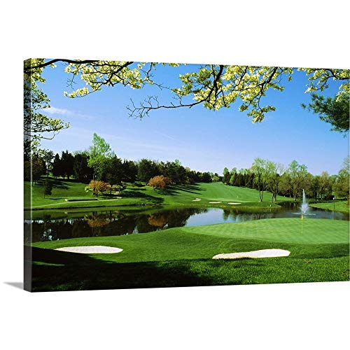 "Premium Thick-Wrap Canvas Wall Art Print Entitled Golf Course, Congressional Country Club, Potomac, Montgomery County, Maryland 36""x24"""