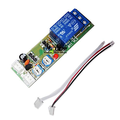Qianson DC 5V 12V 24V Infinite Cycle Delay Timing Timer Relay ON OFF Switch Loop Module (DC 5V (1s~15min)) -