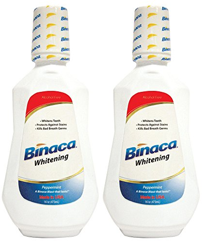 (Binaca Whitening Mouthwash, Peppermint, 16 Oz (Pack of 2))