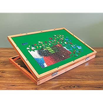 Amazon Com Wooden Puzzle Easel Table For Adults Amp Kids