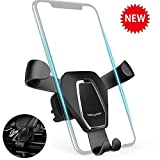 BONBON Car cell phone mount Non-magnetic - Cell Phone Gravity Sensor Holder for iPhone X/8 Plus/7 Plus/7/6s Plus/6s/SE, Samsung Galaxy, Nexus and Most 4-6 Inches Smartphones ,Black