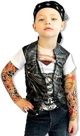 Camiseta de niño tatuaje: Amazon.es: Juguetes y juegos