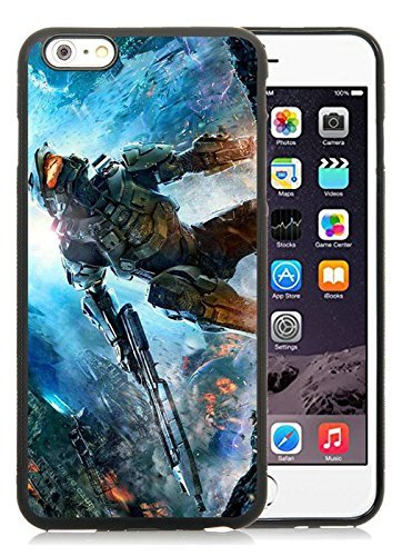 Generic iPhone 6 Plus TPU Case,Halo The Master Chief Collection Black Cover Case For iPhone 6S Plus 5.5 (Iphone 6 Master Chief Case)