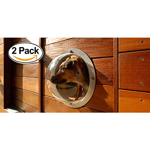 2-Pack Pet Love Fence Bubble Window for Pets and...
