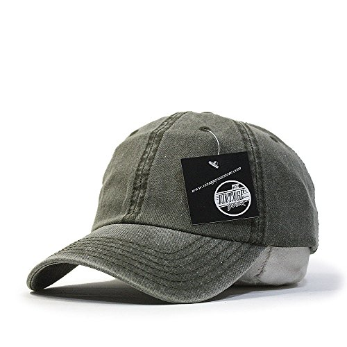 8763a0892 Vintage Year Plain Washed Cotton Adjustable 6 Panel Dad Hat - Import It All
