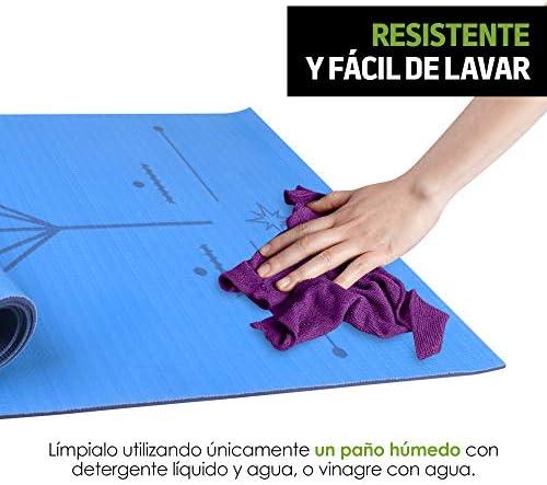 Redlemon Tapete de Yoga, Yoga Mat de 6mm de Grosor, Diseño Bicolor Ultrasuave, Antideslizante, Resistente, Flexible, Fácil de Limpiar, Enrollable. Ideal Para Pilates, Fitness, Meditación y más 8