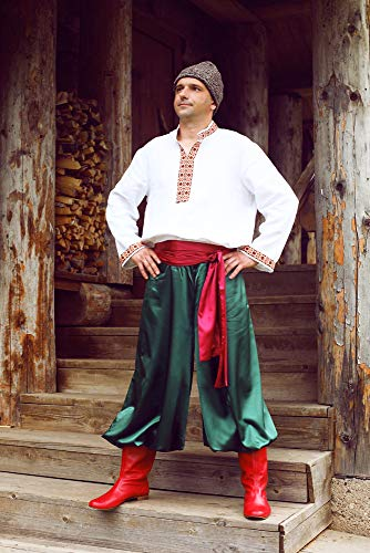 Ukrainian costume men vyshyvanka traditional Slavic clothing folk dancing wear]()