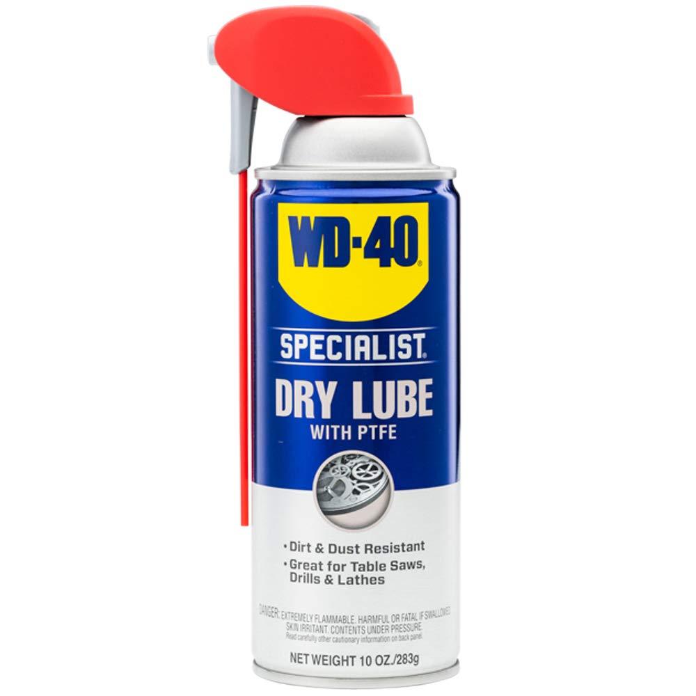 WD-40 300052 Specialist Lubrifiant sec en spray PTFE résistant à la saleté et à la poussière, 10 oz.  (1 paquet) : Amazon.fr : Industriel et scientifique