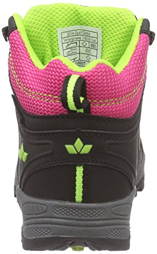 Lico Terrain - Zapatillas de senderismo Niñas Rosa (Pink/schwarz/lemon)