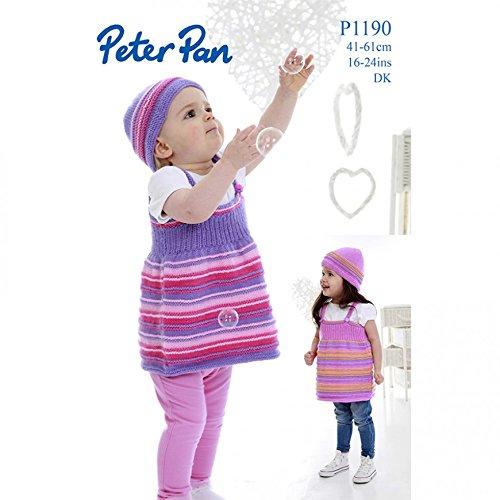 Peter Pan Baby Pinafore Dresses & Hats Knitting Pattern 1190 DK