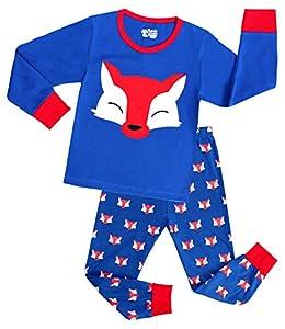 Big boys Pajamas Fox Girls Cotton 2 Piece Sleepwear Kids Children Clothes Sets