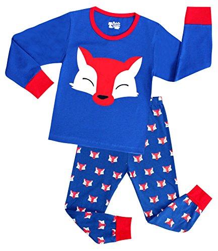 Big Boys Pajamas Fox Cotton 2 Piece Sleepwear Kids Clothes Set for Children 6T