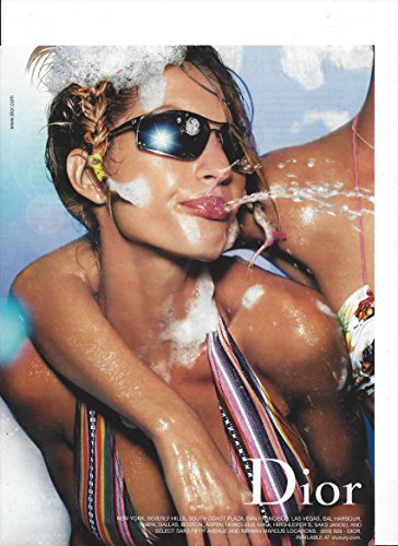 **PRINT AD** With Gisele Bundchen Top For Dior Sunglasses 2002 **PRINT - Gisele Bundchen Sunglasses