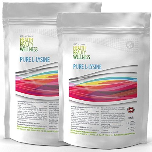 Pure Lysine | 2x 500(1000x 1000mg | High Dose Vegan Tablets Amino Acids...
