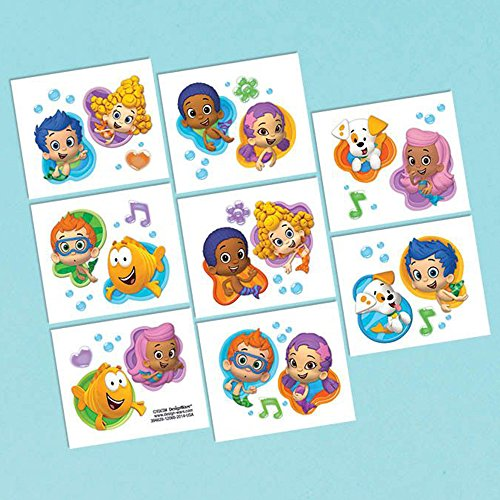Bubble Guppies Tattoo Favors (16 Pack) - Party Supplies