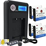 DOT-01 4x Brand Sony DC-RX0 Batteries for Sony DC-RX0 Action and Sony RX0 Battery and Charger Bundle for Sony BJ1 NP-BJ1