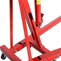 Goplus® 2 TON Red Color 4000 lb Engine Motor Hoist Cherry Picker Shop Crane Lift New