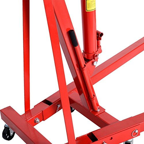 Goplus 2 TON 4000 lb Engine Hoist Stand Cherry Picker Ship Crane Folding Lift (Red) by Goplus (Image #4)