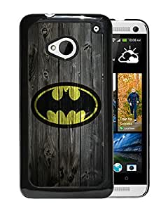 Customized Batman On Wood HTC One M7 Black Case